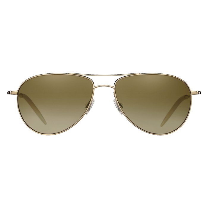 Oliver Peoples BENEDICT Gold - Chrome Amber Photochromic Specs Appeal Optical Miami Sunglasses