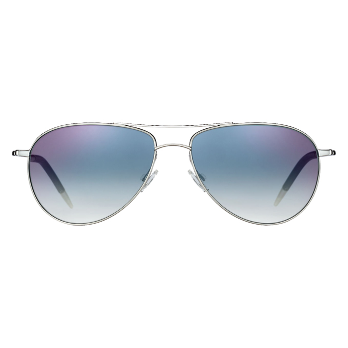 Oliver Peoples Benedict Silver Chrome Sapphire Specs Appeal Optical Miami Sunglasses