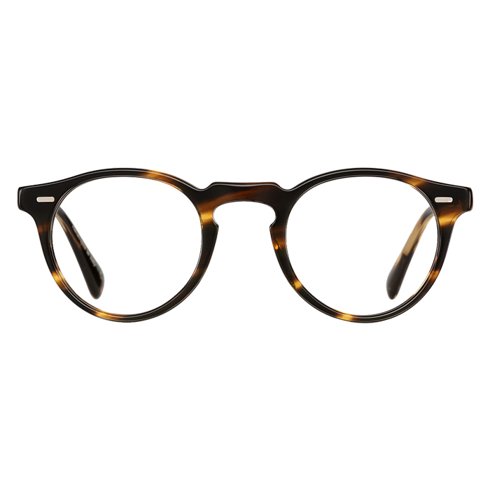 Oliver Peoples GREGORY PECK Cocobolo - Clear Lens Eyeglasses Specs Appeal Optical Miami