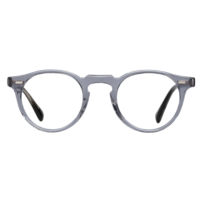 Oliver Peoples GREGORY PECK Workman Grey/ebonywood - Clear Lens Eyeglasses Specs Appeal Optical Miami