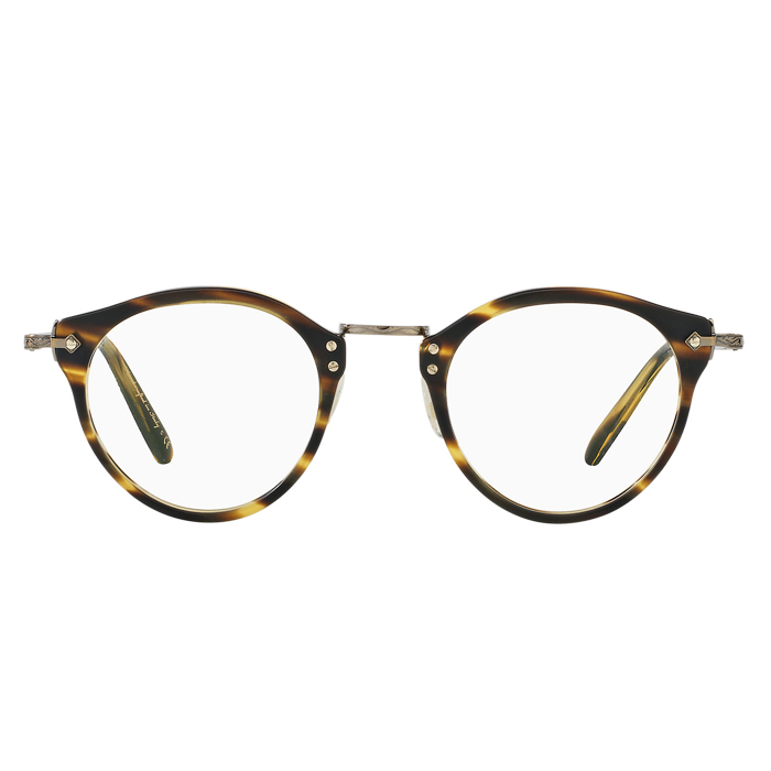 Oliver Peoples OP 505 Semi-matte Cocobolo/antique Gold - Clear Lens Eyeglasses Specs Appeal Optical Miami