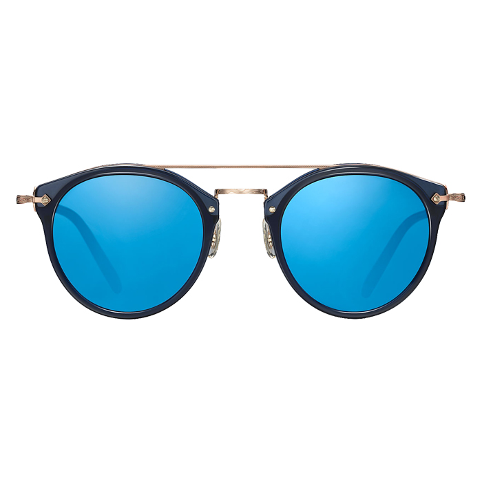 Oliver Peoples REMICK Denim/brushed Rose Gold Blue Mirror Specs Appeal Optical Miami Sunglasses