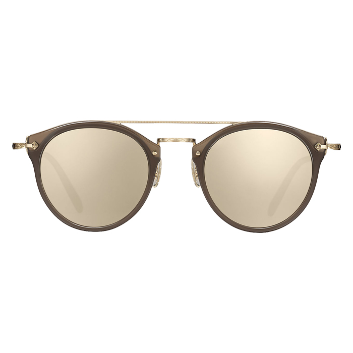Oliver Peoples REMICK Taupe/brushed Gold - Taupe Flash Mirror