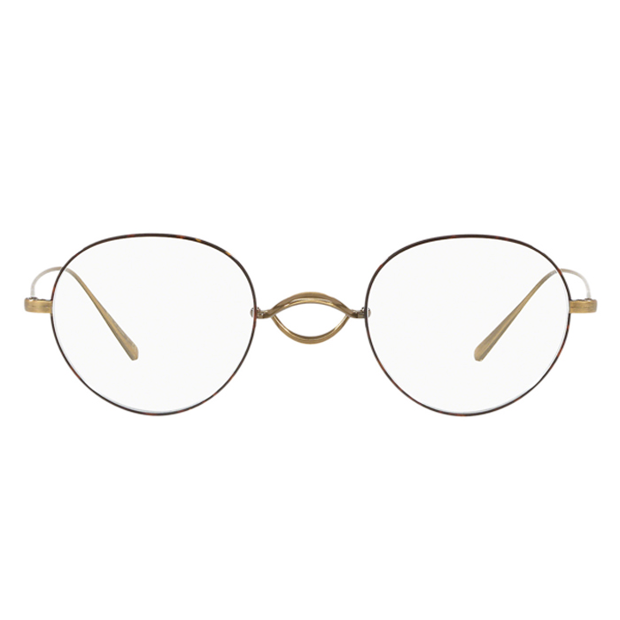 Oliver Peoples WHITT Antique Gold/DTBK - Clear Lens Eyeglasses Specs Appeal Optical Miami