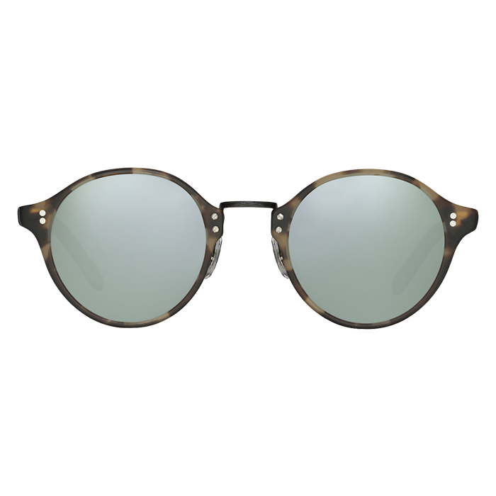 Oliver Peoples OP-1955 Semi-matte Hickory Tortoise/matte Black - Silver Mirror Specs Appeal Optical Miami Sunglasses