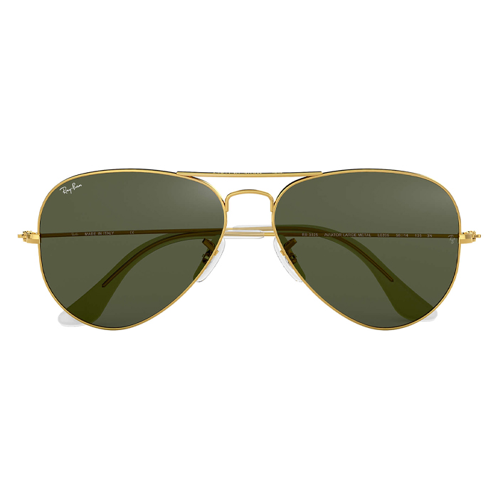 Rayban AVIATOR CLASSIC Gold - Green Classic G15 Sunglasses . Specs Appeal Optical Miami Sunglasses