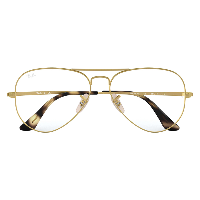 Rayban AVIATOR Matt Gold - Clear Lens Eyeglasses Specs Appeal,Optical Miami