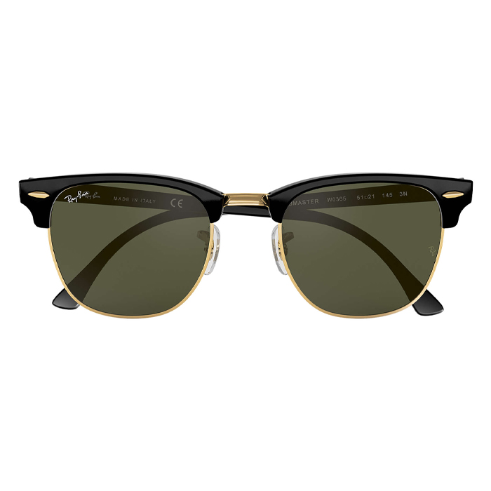Rayban CLUBMASTER Black - Green Classic G-15 Sunglasses Specs Appeal Optical Miami Sunglasses