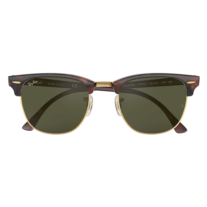 Rayban CLUBMASTER Tortoise - Green Classic G-15 Specs Appeal Optical Miami Sunglasses