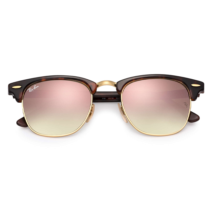 Rayban Rayban CLUBMASTER Tortoise,Gold; Tortoise - Copper Flash Sunglasses Specs Appeal Optical Miami Sunglasses Tortoise,Gold; Tortoise - Copper Flash Sunglasses