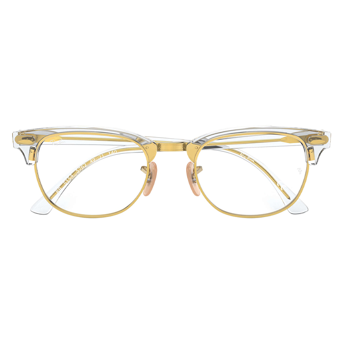 Rayban CLUBMASTER Transparent - Clear Lens Eyeglasses Specs Appeal Optical Miami