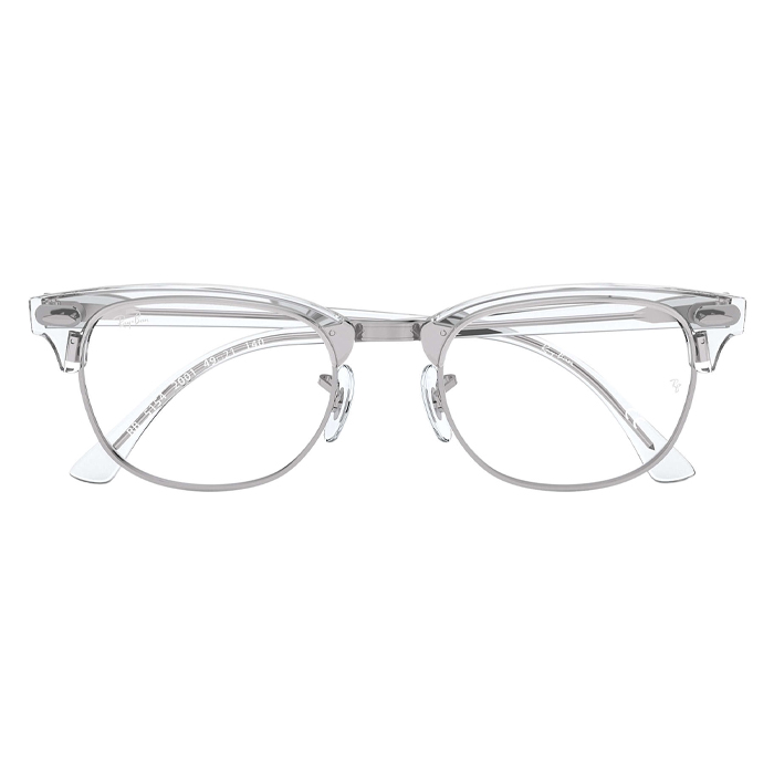 Rayban CLUBMASTER White Transparent - Clear Lens Eyeglasses Specs Appeal Optical Miami