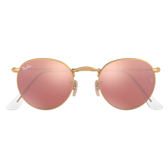 Rayban ROUND METAL Gold - Copper Flash Sunglasses Specs Appeal Optical Miami
