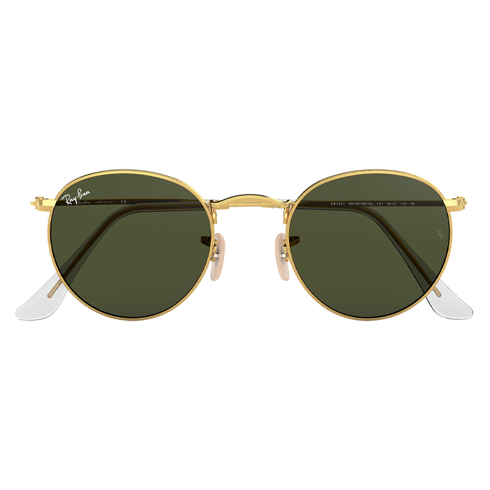 Rayban ROUND METAL Gold - Green Classic G-15 Sunglasses Specs Appeal Optical Miami