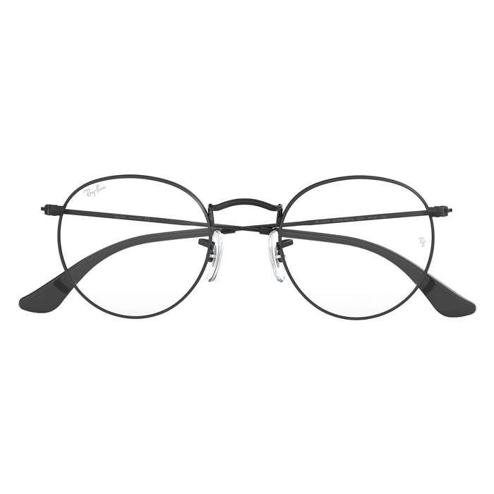 Rayban ROUND METAL Matte Black - Clear Lens Eyeglasses Specs Appeal Optical Miami