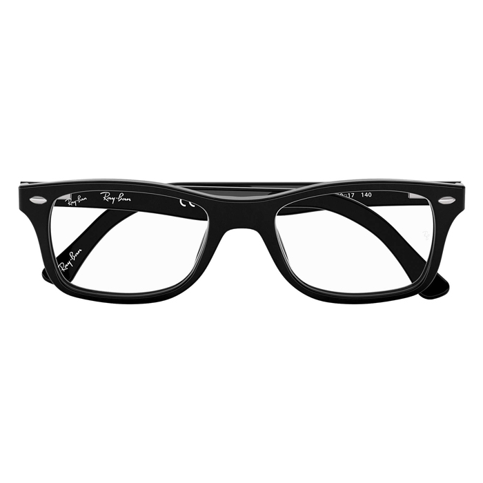 Rayban RX5228 Shiny Black - Clear Lens Eyeglasses Specs Appeal Optical Miami