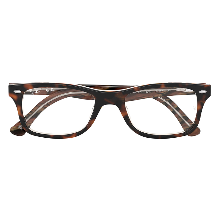 Rayban RX5228 Tortoise - Clear Lens Eyeglasses Specs Appeal Optical Miami