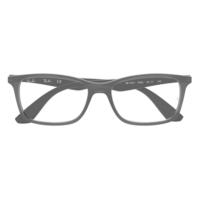 Rayban RX7047 Grey - Clear Lens Eyeglasses Specs Appeal Optical Miami