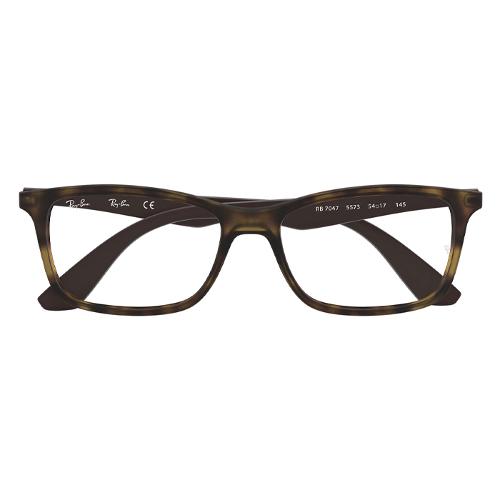 Rayban RX7047 Tortoise Brown - Clear Lens Eyeglasses Specs Appeal Optical Miami