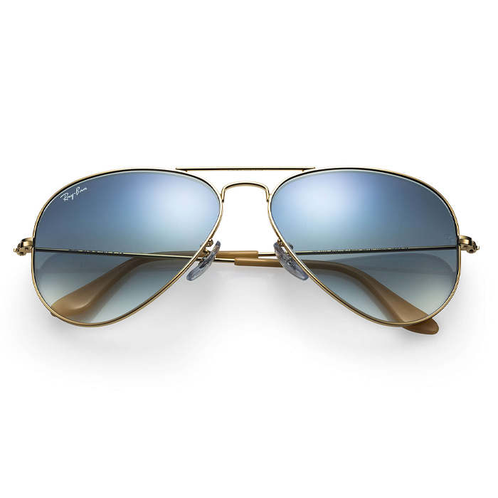 Rayban AVIATOR GRADIENT Gold - Light Blue Gradient Sunglasses Specs Appeal Optical Miami Sunglasses