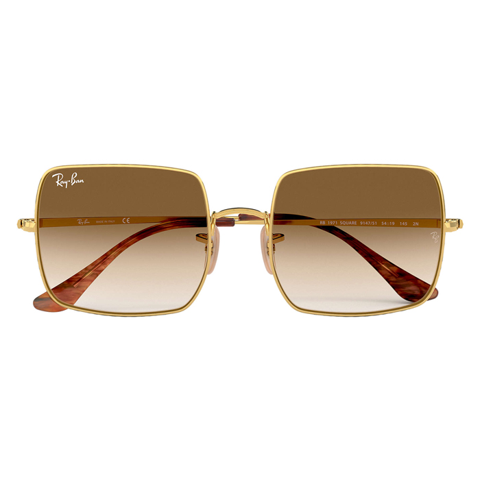 Rayban SQUARE 1971 CLASSIC Gold - Light Brown Gradient Sunglasses Specs Appeal Optical Miami Sunglasses