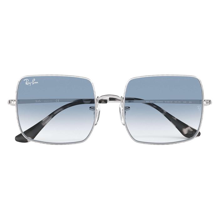 Rayban SQUARE 1971 CLASSIC Silver - Light Blue Gradient Sunglasses Specs Appeal Optical Miami Sunglasses