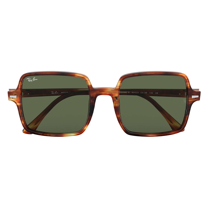 Rayban SQUARE II Tortoise - Green Classic G-15 Sunglasses Specs appeal Optical Miami Sunglasses