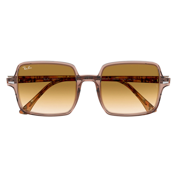 Rayban SQUARE II Transparent Brown; Brown Havana - Light Brown Gradient Sunglasses Specs Appeal Optical Miami Sunglasses