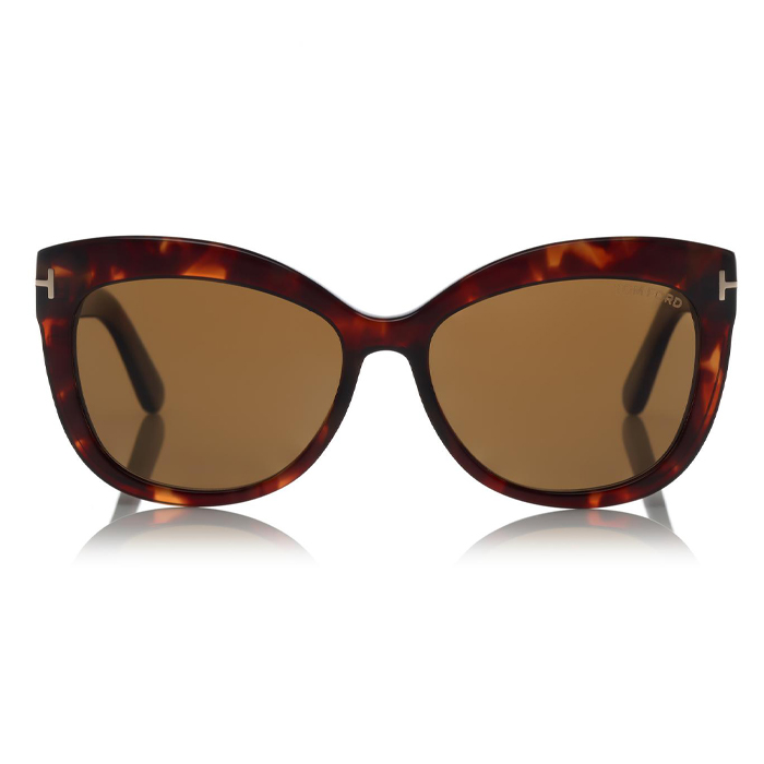 Tom Ford ALISTAIR Shiny Red Havana / Brown Polarized Sunglasses Specs Appeal Optical Sunglasses Miami