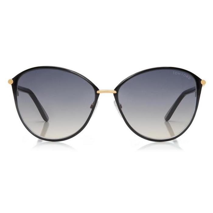 Tom Ford PENELOPE Shiny Rose Gold, Shiny Black Coating / Gradient Smoke Sunglasses Specs Appeal Optical Miami Sunglasses