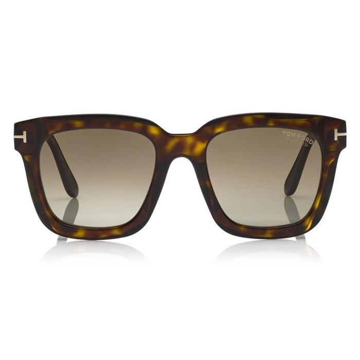Tom Ford SARI Shiny Classic Dark Havana - Green Polarized Sunglasses Specs Appeal Optical Miami Sunglasses