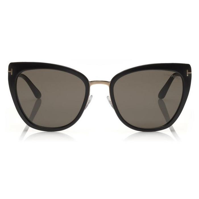 Tom Ford SIMONA Shiny Black, Rose Gold - Smoke lenses Sunglasses Specs Appeal Optical Miami Sunglasses
