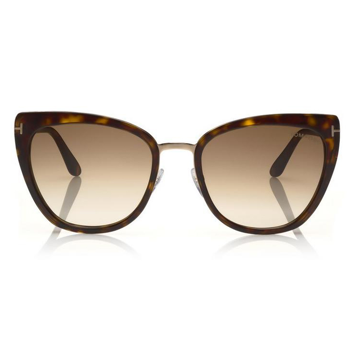 Tom Ford SIMONA Shiny Dark Havana, Rose Gold - Gradient Brown Lenses Sunglasses Specs Appeal Optical Miami Sunglasses